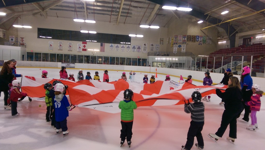 CanSkate Winter Session Parachute Fun!